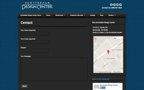 Screenshot of Contact Page scottsdaledesigncenter.com - Contact - Scottsdale Design Center - captured Sept. 30, 2014
