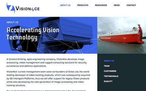 Screenshot of About Page vision4ce.com - About Us - Vision4ce - captured Oct. 21, 2017
