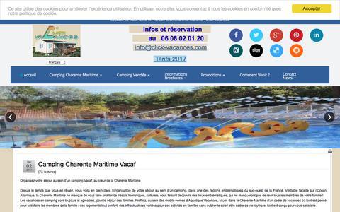 Screenshot of Blog click-vacances.com - Camping Charente Maritime - captured March 23, 2017