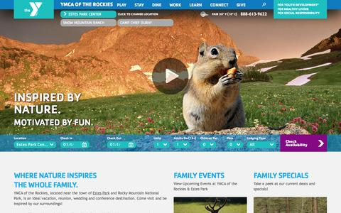 Screenshot of Home Page ymcarockies.org - YMCA of the Rockies – Estes Park, CO - captured Sept. 25, 2014