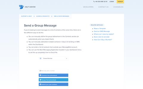 Send a Group Message – Support & Help