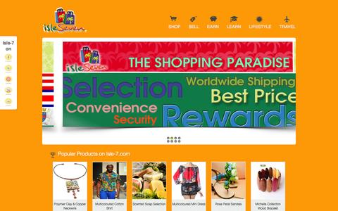 Screenshot of Home Page isle-7.com - Isle-7.com - captured Sept. 30, 2014