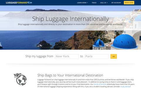 Ship Luggage Internationally With Luggage Forward