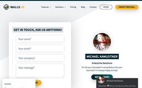Screenshot of Contact Page walls.io - Contact — Walls.io - captured Sept. 20, 2018