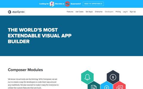 Screenshot of Developers Page appgyver.com - AppGyver - captured Nov. 13, 2015