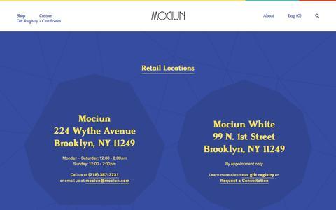 Screenshot of Contact Page mociun.com - Contact Us - captured July 19, 2016
