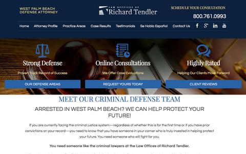 Screenshot of Team Page criminallawyerwestpalmbeach.com - Our Legal Team | Law Offices of Richard Tendler - captured Jan. 26, 2016