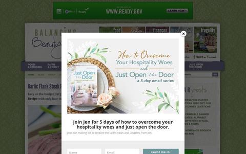 Screenshot of Home Page beautyandbedlam.com - Balancing Beauty and Bedlam - One Frugal Mom's Attempt at Balancing it All. - captured Nov. 8, 2018