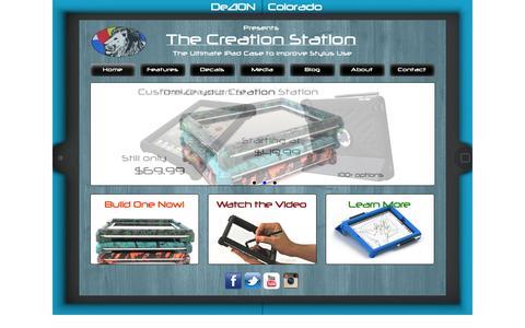 Screenshot of Home Page dezioncolorado.com - The Creation Station - DeZion Colorado - captured Sept. 30, 2014