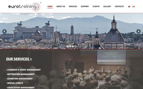 Screenshot of Home Page eurotraining.it - Eurotraining - captured Sept. 29, 2018