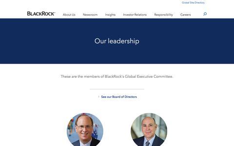 Screenshot of Team Page blackrock.com - Leadership | BlackRock - captured Feb. 28, 2018