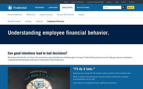 Group Insurance Employee Behavior | Prudential Financial