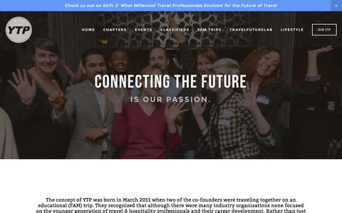 Screenshot of About Page youngtravelprofessionals.com - About YTP — Young Travel Professionals - captured Feb. 13, 2016