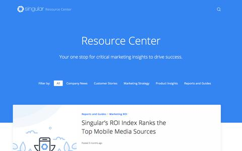Resource Center: Mobile Marketing Insights, Industry Reports and More