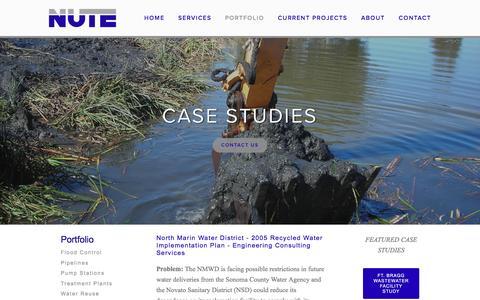 Screenshot of Case Studies Page nute.biz - Case Studies — Nute Engineering - captured Feb. 26, 2016