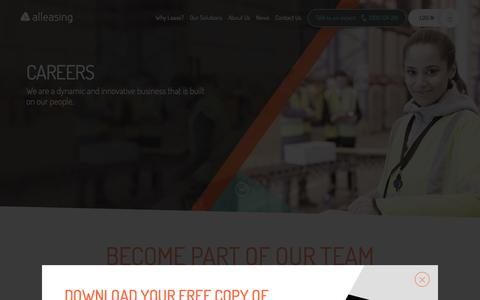 Screenshot of Jobs Page alleasing.com.au - Careers - Alleasing - captured Dec. 24, 2015