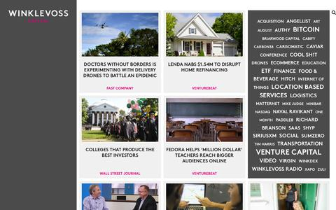 Screenshot of Press Page winklevosscapital.com - News | Winklevoss Capital - captured Nov. 1, 2014