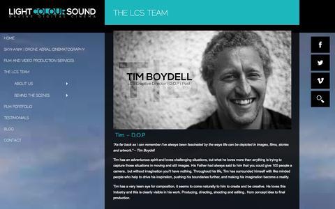 Screenshot of Team Page lightcoloursound.co.uk - The LCS Team - Light Colour Sound - captured Sept. 30, 2014
