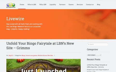 Screenshot of Blog livebingonetwork.co.uk - Blog | Live Bingo Network - captured Sept. 19, 2014