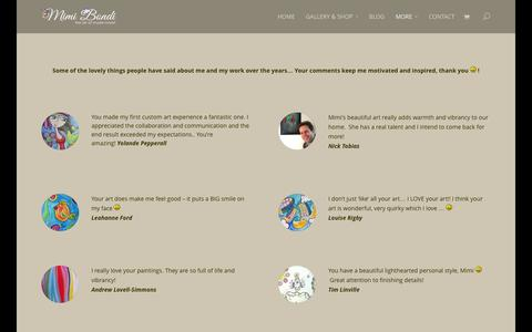 Screenshot of Testimonials Page mimibondi.com - Testimonials - - captured Oct. 7, 2014