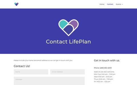 Screenshot of Contact Page pccniles.com - Contact | LifePlan - captured Dec. 15, 2018