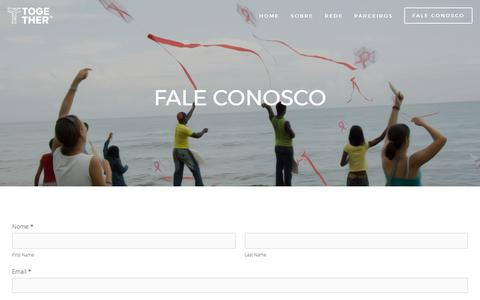 Screenshot of Contact Page wearetogether.co - Fale Conosco — Together | Rede de Inovação e Impacto Social - captured July 6, 2017