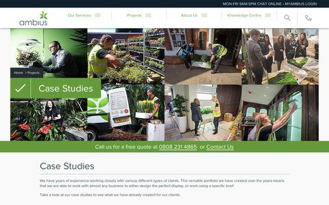 Screenshot of Case Studies Page ambius.co.uk - Case Studies & Awards   Ambius UK - captured Dec. 18, 2018