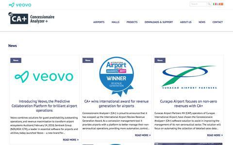 Screenshot of Press Page concessionaireanalyzer.com - News - Concessionaire Analyzer+ - captured July 21, 2018