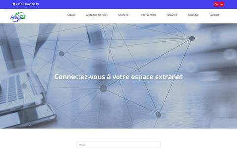 Screenshot of Login Page amgi.fr - AMGI   Extranet login - captured Oct. 2, 2018