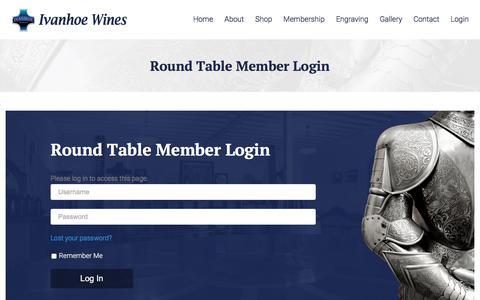 Screenshot of Login Page ivanhoewines.com.au - Round Table Member Login - Ivanhoe Wines - captured June 8, 2017