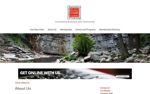 Screenshot of About Page newpaltzchamber.org - About Us - New Paltz Regional Chamber of Commerce | New Paltz, NY 12561 - captured Nov. 18, 2016