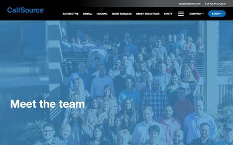 Screenshot of Team Page callsource.com - Meet The Team | CallSource - captured Nov. 6, 2018