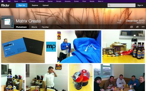 Screenshot of Flickr Page flickr.com - Flickr: Matrix Create's Photostream - captured Oct. 23, 2014