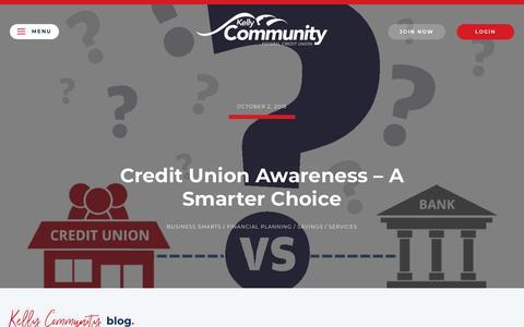 Screenshot of Blog kellycommunity.org - Blog - Kelly Community Federal Credit Union - captured Oct. 15, 2018