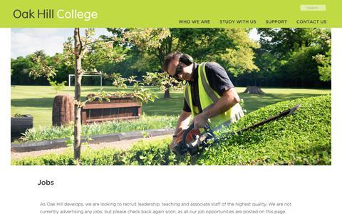 Screenshot of Jobs Page oakhill.ac.uk - Jobs - captured Nov. 17, 2018