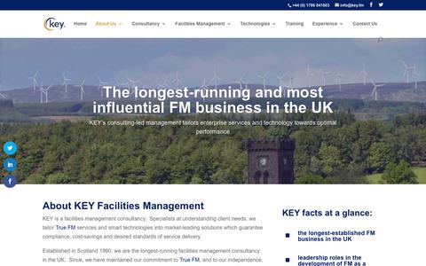 Screenshot of About Page key.fm - About Key - Key Facilities Management - captured Nov. 1, 2018