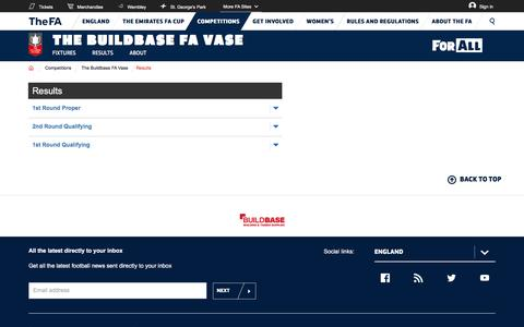 The website for the English football association, The FA Cup and The England football team - The Buildbase FA Vase | The FA