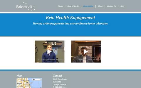 Screenshot of Case Studies Page briohealth.net - Case Studies | BrioHealth - captured Sept. 30, 2014
