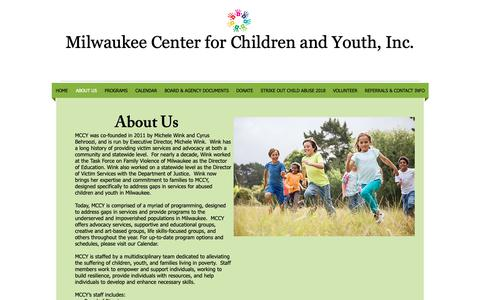 Screenshot of About Page mccy.org - mccy   ABOUT US - captured Oct. 18, 2018