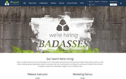 Screenshot of Jobs Page ipexpert.com - We're Hiring! | iPexpert Inc. - captured Feb. 11, 2016