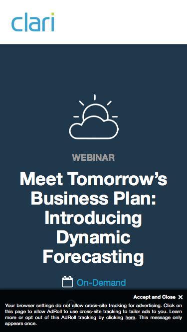 Webinar On-Demand: Introducing Dynamic Forecasting