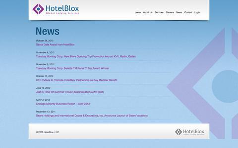 Screenshot of Press Page hotelblox.com - News | HotelBlox - captured Sept. 17, 2017