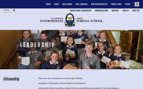 Screenshot of Team Page pnins.school.nz - Leadership — Palmerston North Intermediate Normal School - captured March 6, 2018