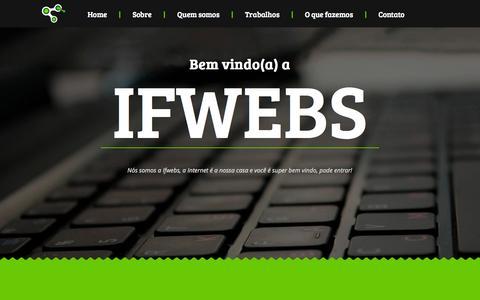 Screenshot of Home Page ifwebs.com - Ifwebs - Criação de Sites em Curitiba | Criação, desenvolvimento e otimização(SEO) de sites e blogs em Curitiba. - captured Oct. 6, 2014