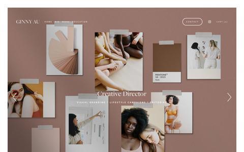 Screenshot of Home Page ginnyau.com - GINNY AU | Creative Director + Stylist - captured Nov. 25, 2018