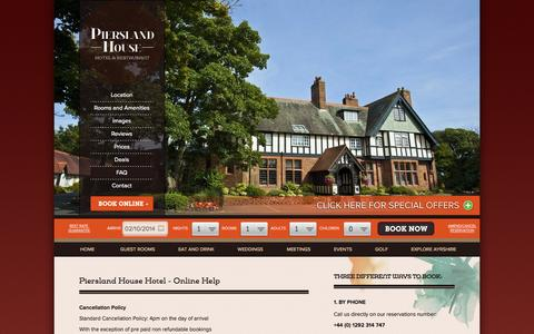Screenshot of FAQ Page piersland.co.uk - Hotels in Troon, Ayrshire hotel guide, Troon hotel accommodation, Ayr and Prestwick Airport hotel deals - captured Oct. 2, 2014