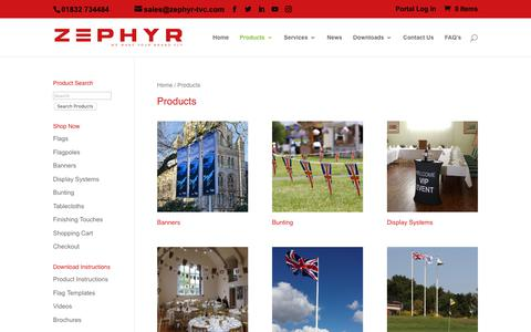 Screenshot of Products Page zephyr-tvc.com - Products Archive - Zephyr TVC - The Visual Communicators - captured Oct. 20, 2018