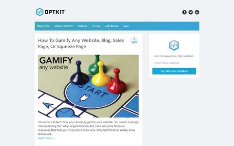 OptKit Blog - Helping you convert more traffic.