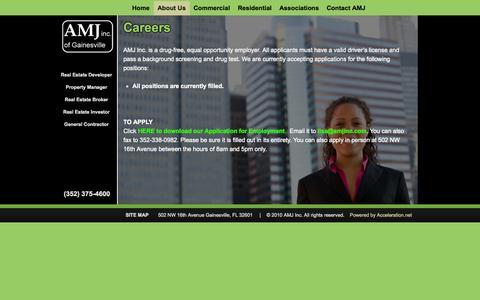 Screenshot of Jobs Page amjinc.com - AMJ Inc of Gainesville Careers | AMJ Inc. of Gainesville - captured Oct. 4, 2014