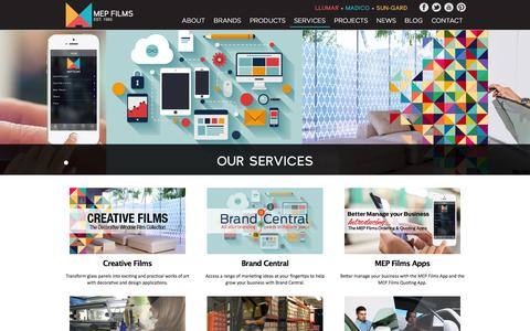 Screenshot of Services Page mepfilms.com - MEP Films - Services - captured Oct. 9, 2014